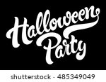 halloween party hand drawn... | Shutterstock .eps vector #485349049