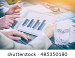meeting leadership marketing... | Shutterstock . vector #485350180