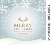 winter design with reindeers... | Shutterstock .eps vector #485350576
