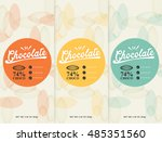 chocolate bar   vector set of... | Shutterstock .eps vector #485351560