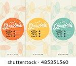 chocolate bar   vector set of... | Shutterstock .eps vector #485351560