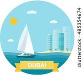 Dubai  Yacht  Skyscrapers ...