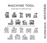 set icons of machine tool | Shutterstock .eps vector #485355808