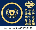 glory shield icon with bonus... | Shutterstock .eps vector #485357158