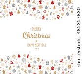 merry christmas type decoration ... | Shutterstock .eps vector #485357830