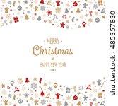 merry christmas type decoration ... | Shutterstock .eps vector #485357830