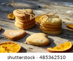 Cookies And Orange On The...