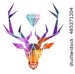 deer icon  vector icon set....   Shutterstock .eps vector #485371204