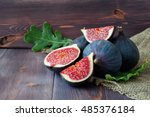Ripe Sweet Figs With Green...