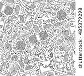 cartoon cute hand drawn... | Shutterstock .eps vector #485379298