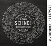 chalkboard vector hand drawn... | Shutterstock .eps vector #485379334