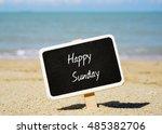 Happy Sunday Text Written On...