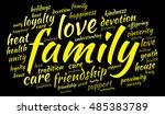 family word cloud | Shutterstock .eps vector #485383789