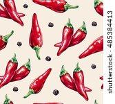 Chili Peppers Seamless Pattern. ...