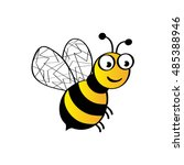 bee icon   isolated on white...   Shutterstock .eps vector #485388946