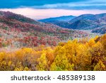 autumn forest  great smoky... | Shutterstock . vector #485389138