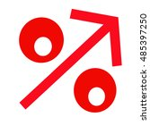red percent sign on a... | Shutterstock . vector #485397250