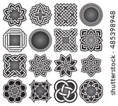 set of abstract sacred geometry ... | Shutterstock .eps vector #485398948