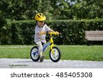 Child Boy Riding On His First...