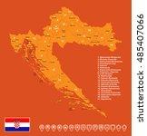croatia map vector illustration | Shutterstock .eps vector #485407066