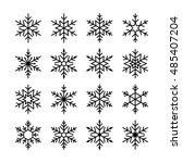 snowflake set | Shutterstock .eps vector #485407204