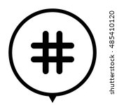 hashtags   black vector  icon ... | Shutterstock .eps vector #485410120