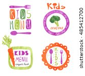 watercolor kids menu logo... | Shutterstock .eps vector #485412700