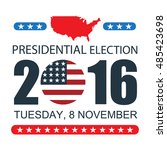 usa presidential election 2016... | Shutterstock .eps vector #485423698