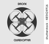 drone vector icon  top view on... | Shutterstock .eps vector #485424916