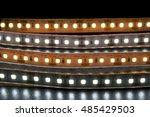 group of led lighting on black... | Shutterstock . vector #485429503