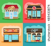 restaurant or fast food store... | Shutterstock .eps vector #485433874
