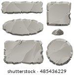 vector stone design elements... | Shutterstock .eps vector #485436229