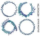 set the wreath. a floral design.... | Shutterstock . vector #485436754