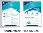 vector brochure flyer design... | Shutterstock .eps vector #485439028