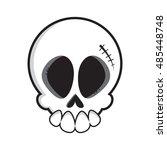 cartoon vector skull. skull... | Shutterstock .eps vector #485448748