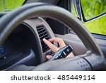 hand adjusting the air...   Shutterstock . vector #485449114
