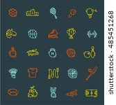 sports outline icons | Shutterstock .eps vector #485451268