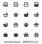 shopping bascket icon set for... | Shutterstock .eps vector #485452114