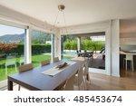 wide open space of luxury house ... | Shutterstock . vector #485453674