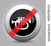 Gray Chrome Button With No...