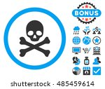 death icon with bonus elements. ... | Shutterstock .eps vector #485459614