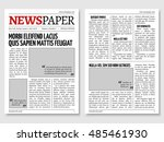 vintage newspaper journal... | Shutterstock .eps vector #485461930