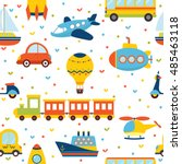 seamless pattern with colorful... | Shutterstock .eps vector #485463118