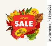 special offer sale tag discount ... | Shutterstock .eps vector #485466223