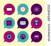 vector flat icons set   gadgets