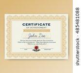 elegant certificate of... | Shutterstock .eps vector #485481088