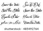 save the date various written... | Shutterstock .eps vector #485492764