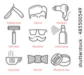 vector outline icons set with...