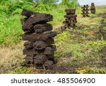 turf stacked in piles our... | Shutterstock . vector #485506900