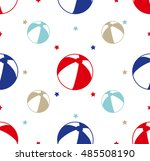 seamless pattern with colorful... | Shutterstock .eps vector #485508190